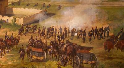 Détail du panorama de la bataille de Sedan en 1870