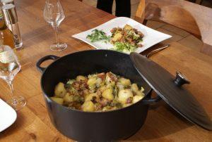 Recettes Ardennaises, la Salade au Lard