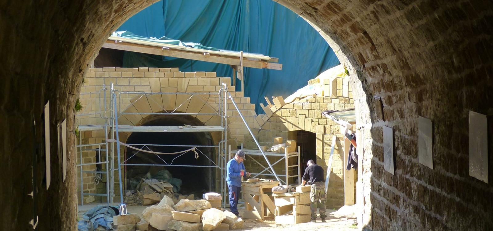Restauration de la place sud du Fort des Ayvelles