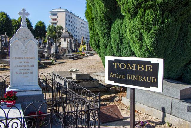 La Tombe d'Arthur Rimbaud dans le cimetière de Charleville
