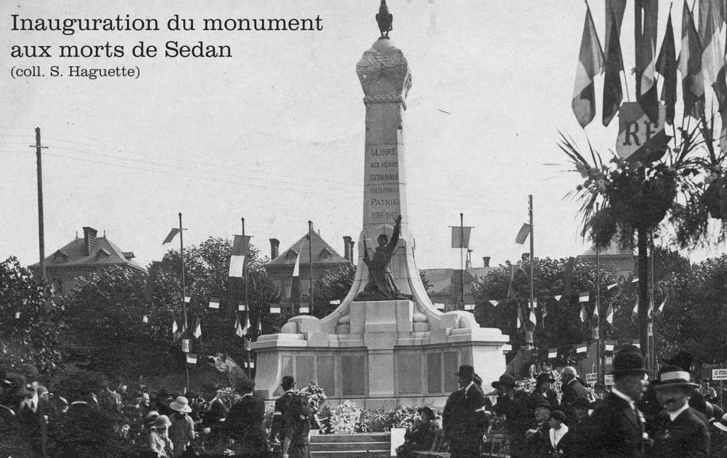 Inauguration du monument aux morts de la place Nassau à Sedan
