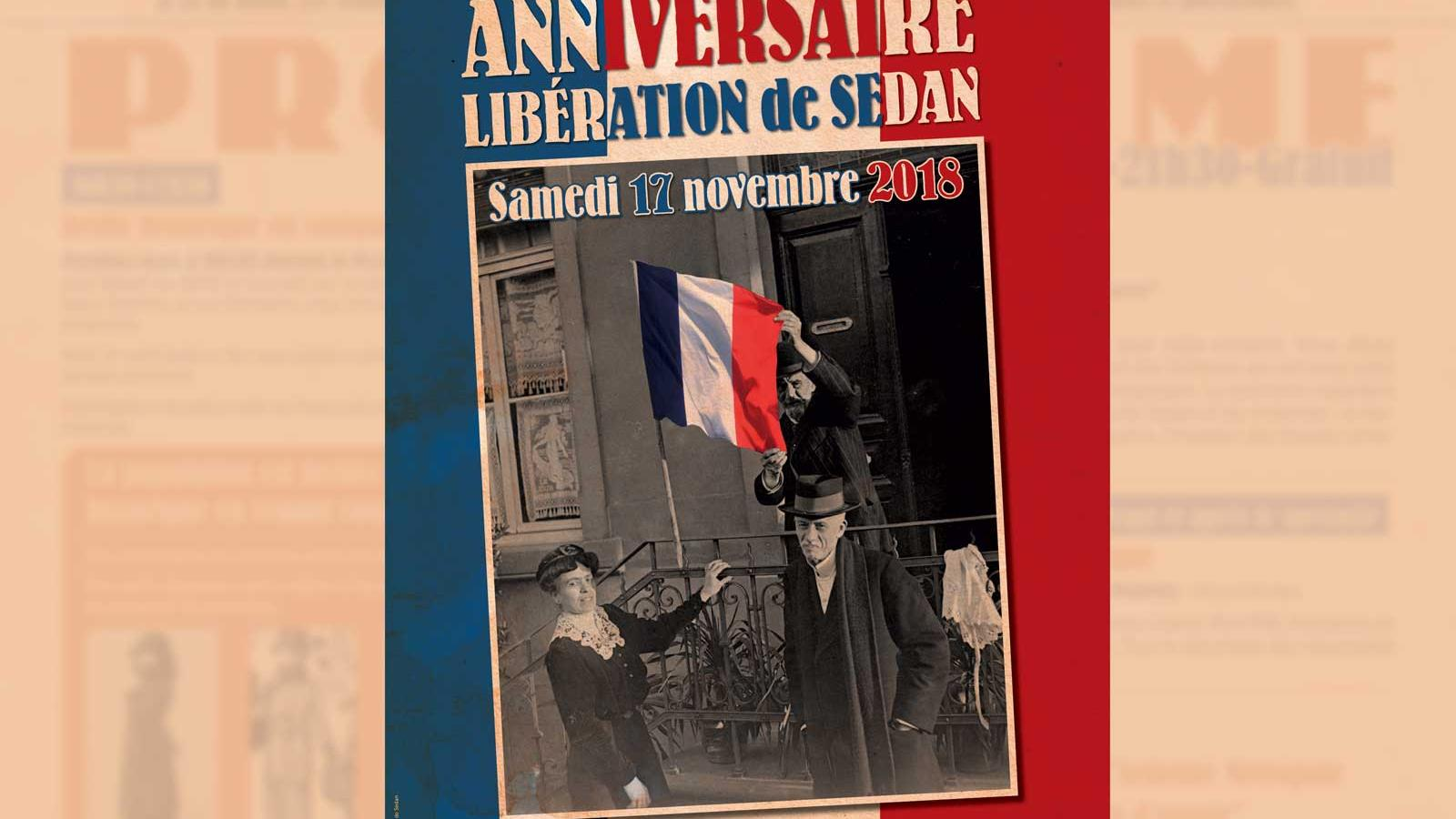 Programme commémoration armistice Sedan 17 novembre 2018