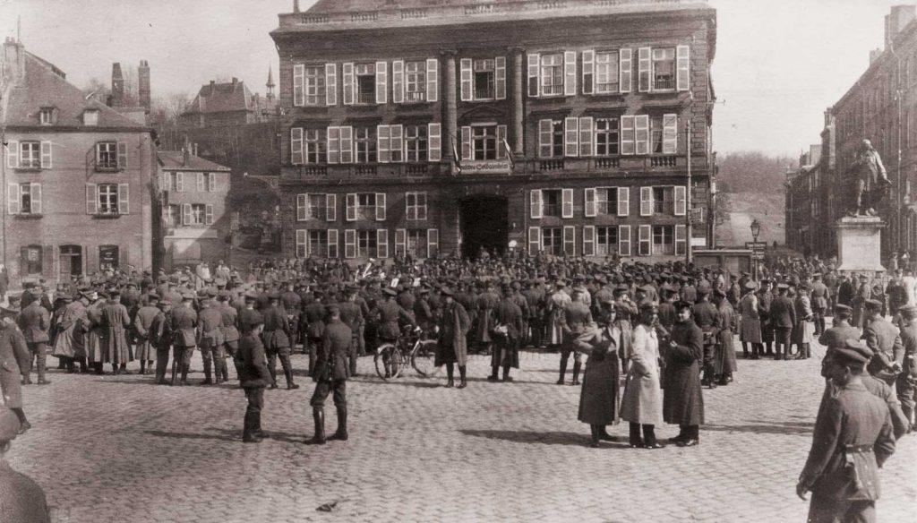 Sedan, la place Turenne durant la Première Guerre mondiale