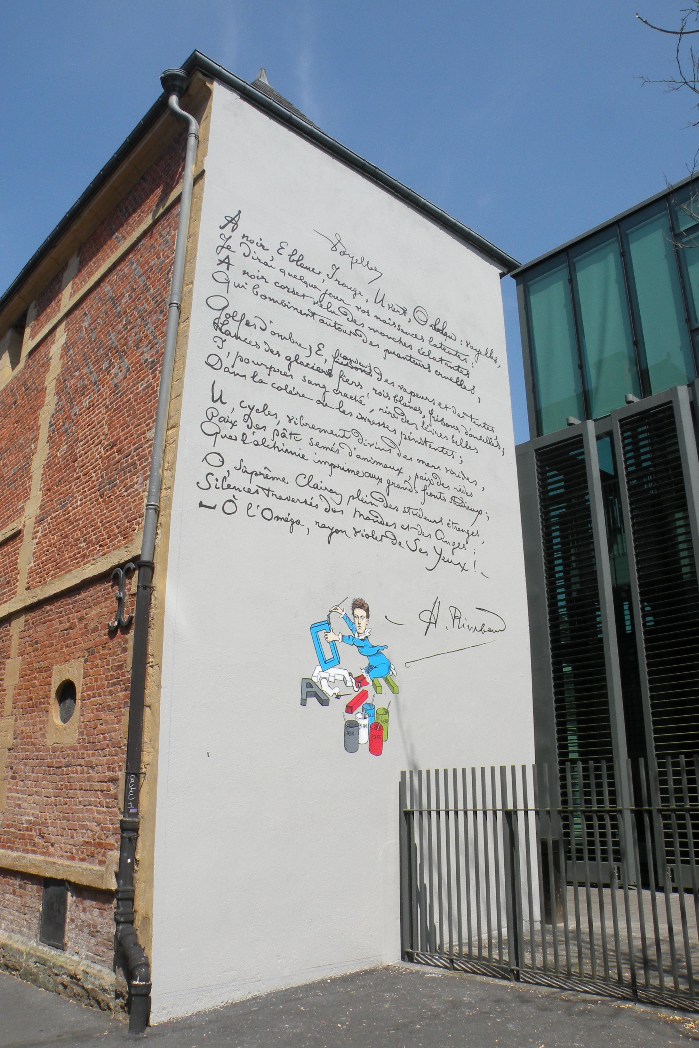 Parcours Rimbaud, les fresques au fil de l'eau