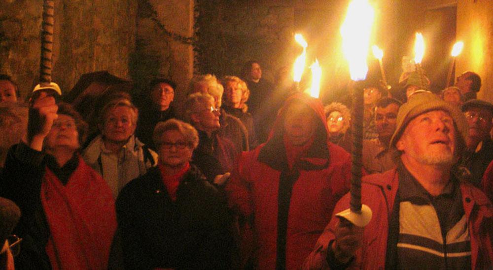 Visite guidée de Mézières aux flambeaux ©Philippe Mangen