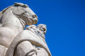 Statue des 4 fils Aymon à Monthermé