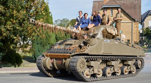 Char Sherman Deuxième Guerre mondiale
