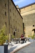 Terrasse de l'hôtel Le Château Fort à Sedan