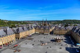 Panorama depuis le beffroi place Ducale à Charleville-Mézières