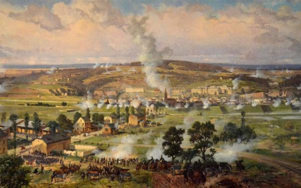 Bataille de Sedan 1870 par Louis Braun