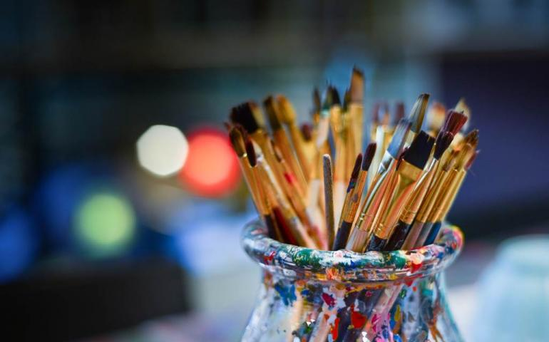 Atelier des peintres : Muriel Massalon et ses élèves