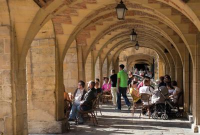 Les arcades de la Place Ducale